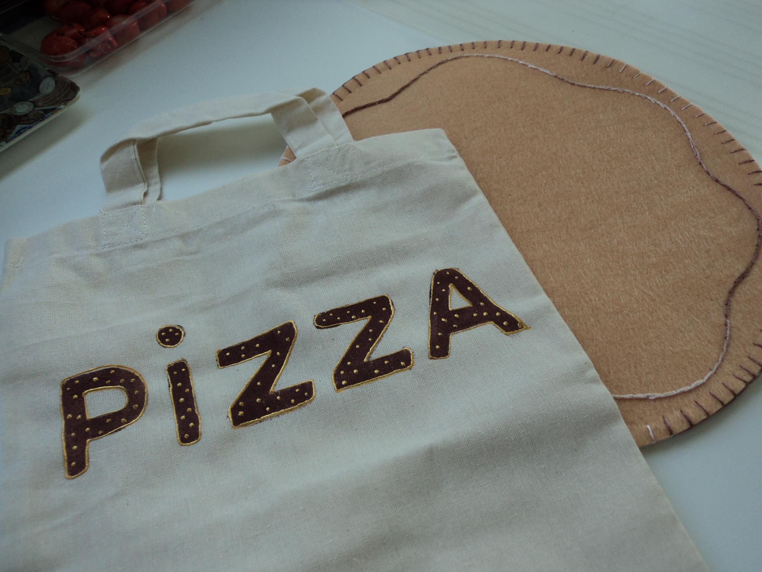 pizza z filcu